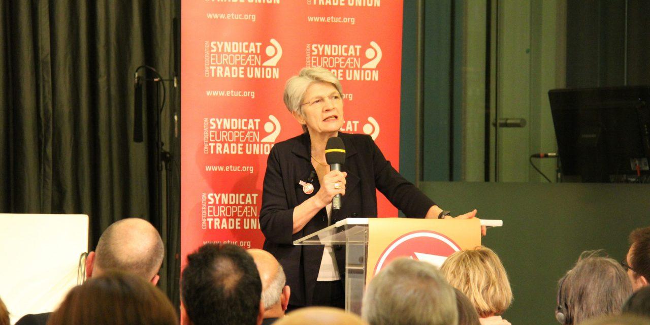 Les eurodéputé-e-s socialistes et radicaux saluent le travail mené par Bernadette Ségol à la tête de la Confédération Européenne des Syndicats