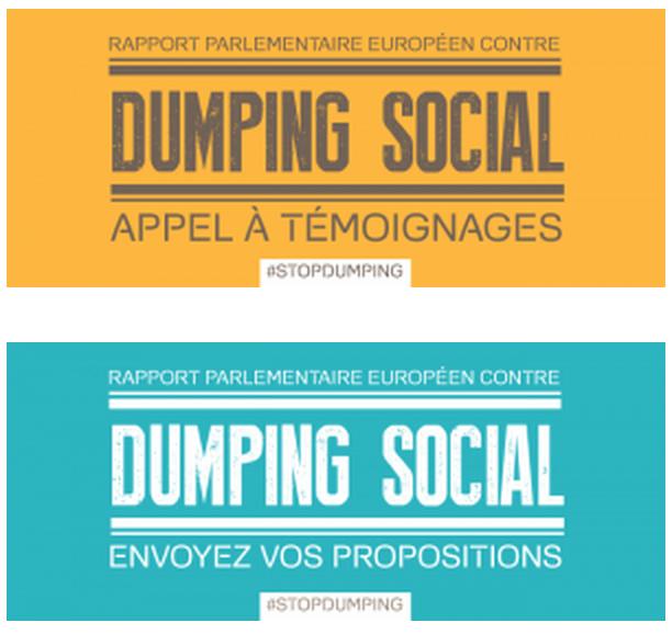 RAPPORT PARLEMENTAIRE SUR LA LUTTE CONTRE LE DUMPING SOCIAL DANS L'UE : TÉMOIGNEZ, CONTRIBUEZ !