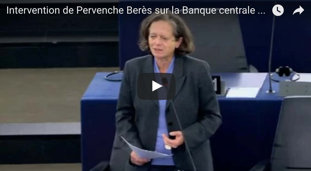 Intervention de Pervenche Berès sur la Banque centrale européenne