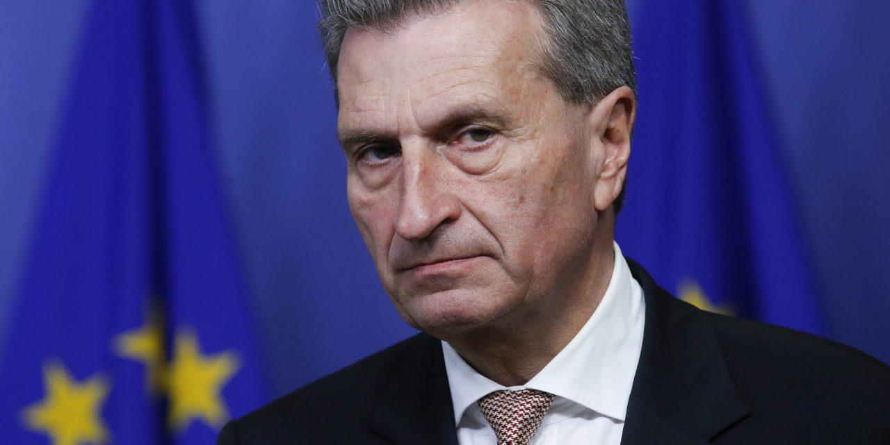 Le débat doit se poursuivre quant à la promotion de M. Oettinger